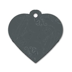 Floral Design Dog Tag Heart (two Sides)