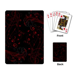 Floral Design Playing Card