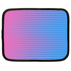 Turquoise Pink Stripe Light Blue Netbook Case (XXL)  by Mariart