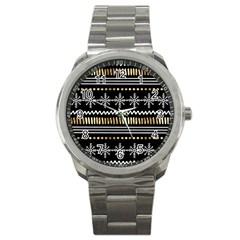 Kawaii Pattern Sport Metal Watch