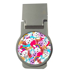 Cute Cartoon Pattern Money Clips (round)  by Nexatart