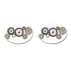 Hour Time Iron Cufflinks (Oval) by Mariart