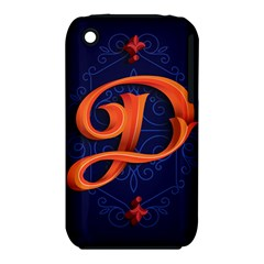 Marquis Love Dope Lettering Blue Red Orange Alphabet P iPhone 3S/3GS by Mariart