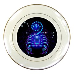 Sign Scorpio Zodiac Porcelain Plates by Mariart