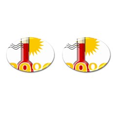 Thermometer Themperature Hot Sun Cufflinks (Oval) by Mariart