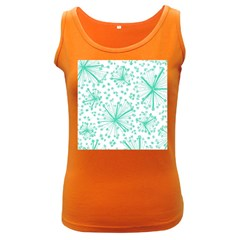 Pattern Floralgreen Women s Dark Tank Top by Nexatart