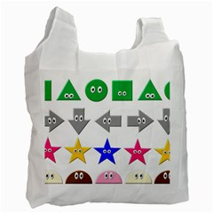 Cute Symbol Recycle Bag (one Side) by Nexatart