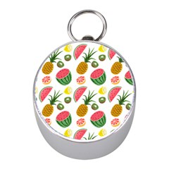 Fruits Pattern Mini Silver Compasses by Nexatart