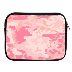 Pink Camo Print Apple Ipad 2/3/4 Zipper Cases by Nexatart