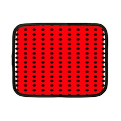 Red White Black Hole Polka Circle Netbook Case (Small)  by Mariart