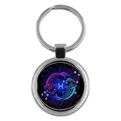 Sign Pisces Zodiac Key Chains (round)  by Mariart