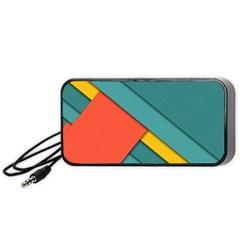 Color Schemes Material Design Wallpaper Portable Speaker (black)