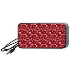 Merry Christmas Pattern Portable Speaker (black)