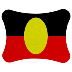 Flag Of Australian Aborigines Jigsaw Puzzle Photo Stand (bow) by Nexatart