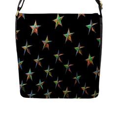 Colorful Gold Star Christmas Flap Messenger Bag (l)  by Mariart
