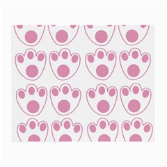 Rabbit Feet Paw Pink Foot Animals Small Glasses Cloth (2 Side) by Mariart