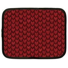 Red Snakeskin Snak Skin Animals Netbook Case (XXL)  by Mariart