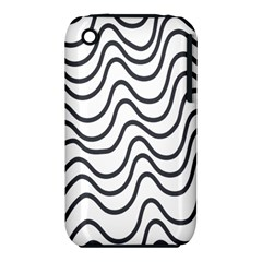 Wave Waves Chefron Line Grey White iPhone 3S/3GS by Mariart