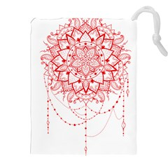 Mandala Pretty Design Pattern Drawstring Pouches (XXL) by Nexatart