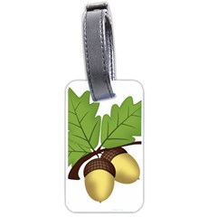 Acorn Hazelnuts Nature Forest Luggage Tags (two Sides) by Nexatart