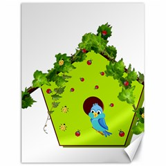 Bluebird Bird Birdhouse Avian Canvas 18  X 24   by Nexatart