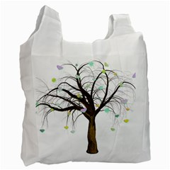 Tree Fantasy Magic Hearts Flowers Recycle Bag (two Side)  by Nexatart