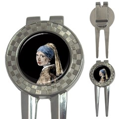 The Girl With The Pearl Earring 3-in-1 Golf Divots by Valentinaart