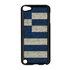 Vintage Flag   Greece Apple Ipod Touch 5 Case (black) by ValentinaDesign