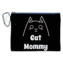 Love My Cat Mommy Canvas Cosmetic Bag (xxl) by Catifornia