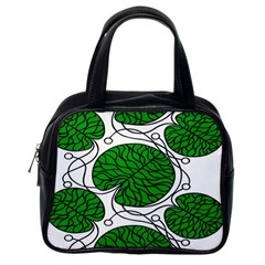 Leaf Green Classic Handbags (One Side) by Mariart