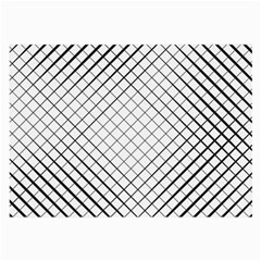 Simple Pattern Waves Plaid Black White Large Glasses Cloth (2 Side) by Mariart