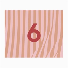 Number 6 Line Vertical Red Pink Wave Chevron Small Glasses Cloth by Mariart