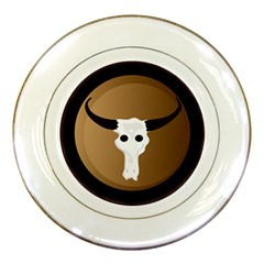 Logo The Cow Animals Porcelain Plates by Nexatart