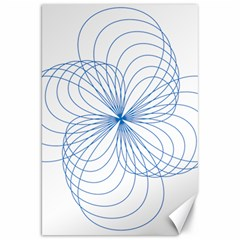 Blue Spirograph Pattern Drawing Design Canvas 20  x 30   by Nexatart