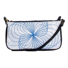 Blue Spirograph Pattern Drawing Design Shoulder Clutch Bags