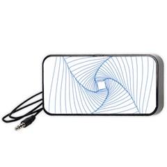 Spirograph Pattern Drawing Design Portable Speaker (black)
