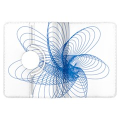 Spirograph Pattern Drawing Design Blue Kindle Fire HDX Flip 360 Case by Nexatart