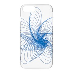 Spirograph Pattern Drawing Design Blue Apple iPhone 7 Plus Hardshell Case by Nexatart