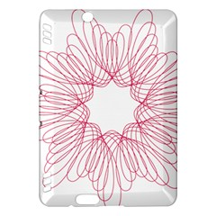 Spirograph Pattern Drawing Design Kindle Fire HDX Hardshell Case by Nexatart