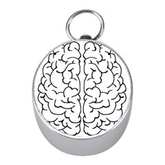 Brain Mind Gray Matter Thought Mini Silver Compasses by Nexatart
