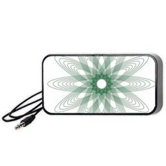 Spirograph Pattern Circle Design Portable Speaker (Black)