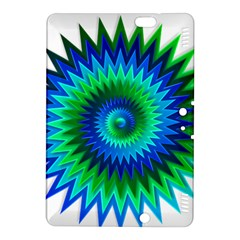 Star 3d Gradient Blue Green Kindle Fire HDX 8.9  Hardshell Case by Nexatart