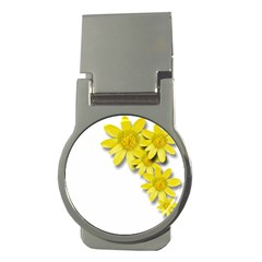 Flowers Spring Yellow Spring Onion Money Clips (round)  by Nexatart