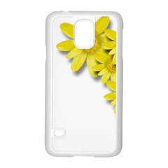 Flowers Spring Yellow Spring Onion Samsung Galaxy S5 Case (White) by Nexatart