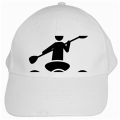 Cropped Kayak Graphic Race Paddle Black Water Sea Wave Beach White Cap by Mariart