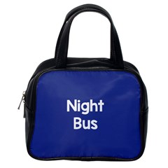 Night Bus New Blue Classic Handbags (One Side) by Mariart