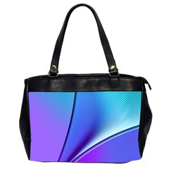 Line Blue Light Space Purple Office Handbags (2 Sides)  by Mariart
