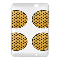 Star Circle Orange Round Polka Kindle Fire HDX 8.9  Hardshell Case by Mariart