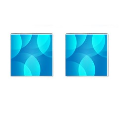 Abstract Blue Wallpaper Wave Cufflinks (Square) by Nexatart