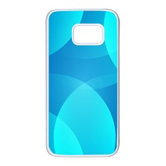 Abstract Blue Wallpaper Wave Samsung Galaxy S7 White Seamless Case